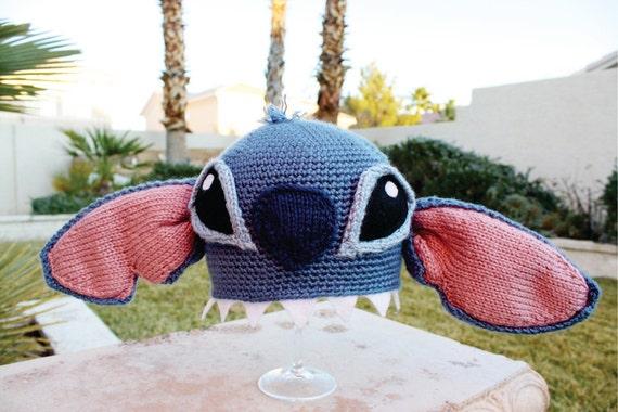 Stitch -ish Hat: Super Cute Disney Lilo & Stitch Alien Crochet Beanie Hat