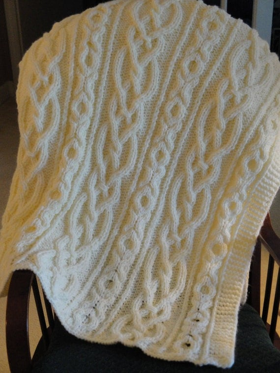 Lovers Knot Knitting Stitch : Items similar to Lovers Knot Knit Afghan on Etsy