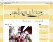 Yellow Ribbon - Customizable Premade Blogger Template