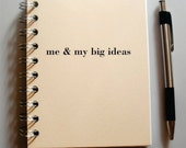 Personalized Custom Journal Me & My Big Ideas,  Choose Cover Color