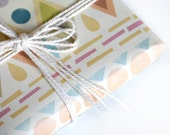"""Eco-friendly Wrapping Paper """"Native"""" Set of 2"""