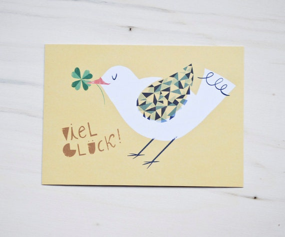 "Eco-friendly Post Card ""Viel Glück"""