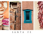 Santa Fe in Color and Texture, Celebrating the Southwest 36x24, Travel Photography, poster-sized print, fine art photography