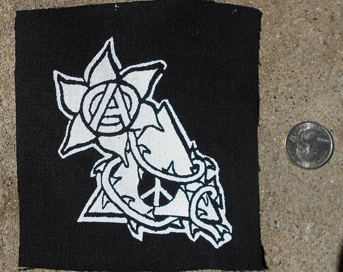 A//Political - Anarchy/Peace Flower Patch