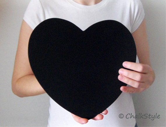 2 CHALKBOARD Large HEARTS for Rustic Wedding Decor or Photo Booth Prop, Engagement Pictures Props Save the Date Chalk Board Signs