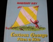 1950s childrens book / Childrens Weekly Reader / Curious George Flies A Kite
