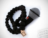 Mic Crochain by verymuch, crocheted Hip Hop Necklace