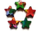 Recycled Rainbow Star Crayons - Jumbo Stars Set of 3 (THREE)
