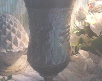 SALE Vase Hammered Metal Vintage Urn Decorative