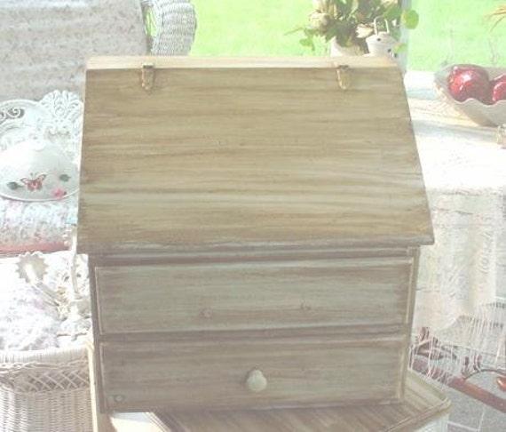 Handmade Country Farm Style Breadbox Bin