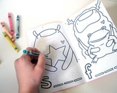 """COLORING BOOK about Spelling and word play for kids """"Swell to Spell"""" featuring the Knitimals by might"""