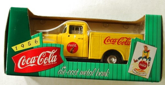 Coca Cola Die Cast 1956 Ford Truck Bank By Ertl Toys Mint in box
