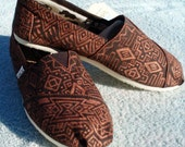 Handpainted Custom TOMS Shoes - Southwestern Design