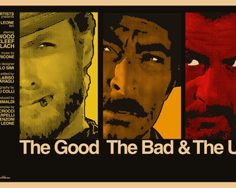 The Good The Bad and The Ugly - Film Poster (custom-made, signed & numbered)