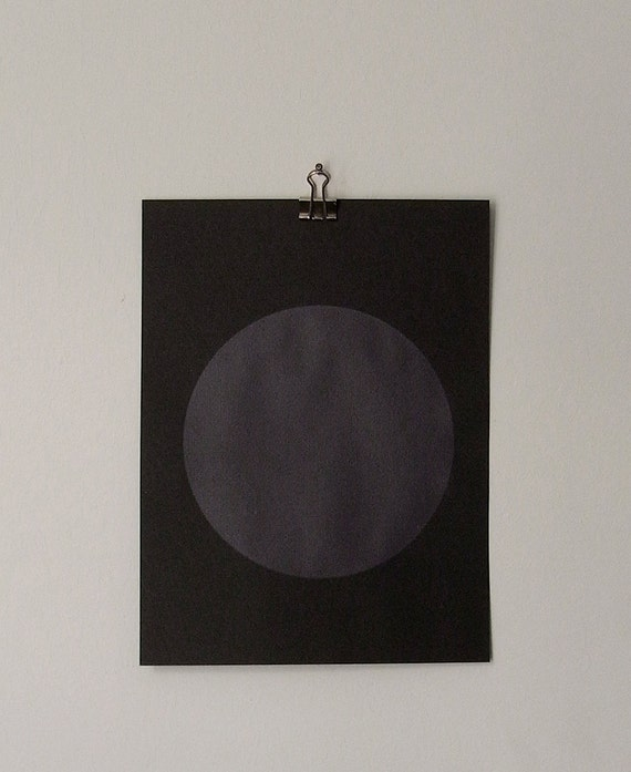 circle screenprint on paper, dark violet