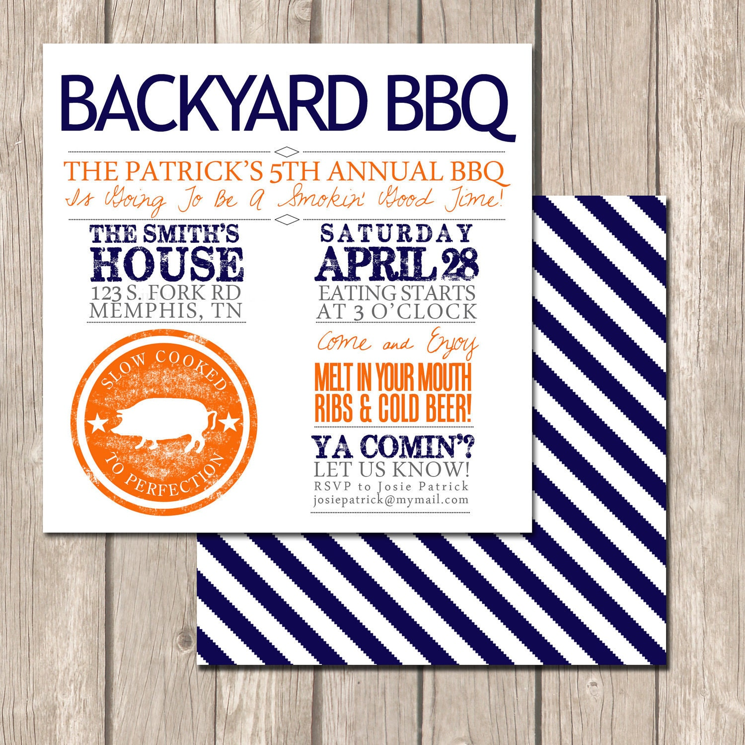 Summer Backyard Party Invitation : Summer Backyard BBQ Invitation Perfect Invitation by VivaLaLovely