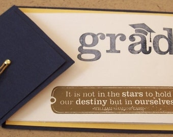 Handmade Graduation Card or Invitation or announcement