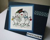 Snowmen Friends Christmas Card
