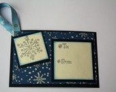 Gift tag Holiday - Snowflake