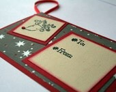 Gift tag Holiday - Reindeer