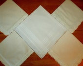 Wedding Handkerchiefs Personalized Set of 6 any combination