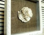 Sheet Music Flower Framed Art