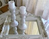 Antique White Mirror Tray