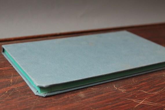 Vintage blank ledger-note book-recorder / blue hardback cover - diary journal