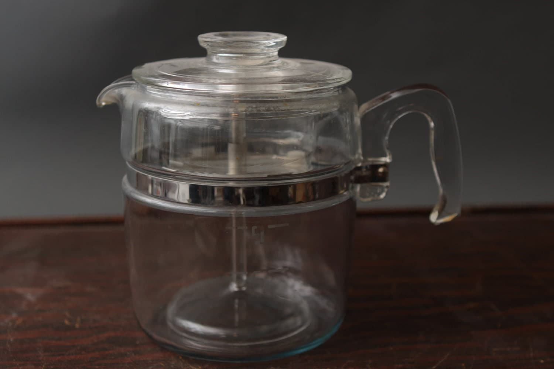 Lab Glass Coffee Maker : Vintage Pyrex Glass Coffee Percolator Coffee Maker