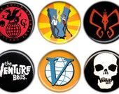 Set of 6 The Venture Brothers 1.25 inch pin buttons