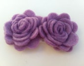 Felt Rose Flower Hair Clip in Light Violet