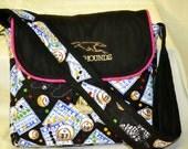 Embroidered shoulder strap Purse