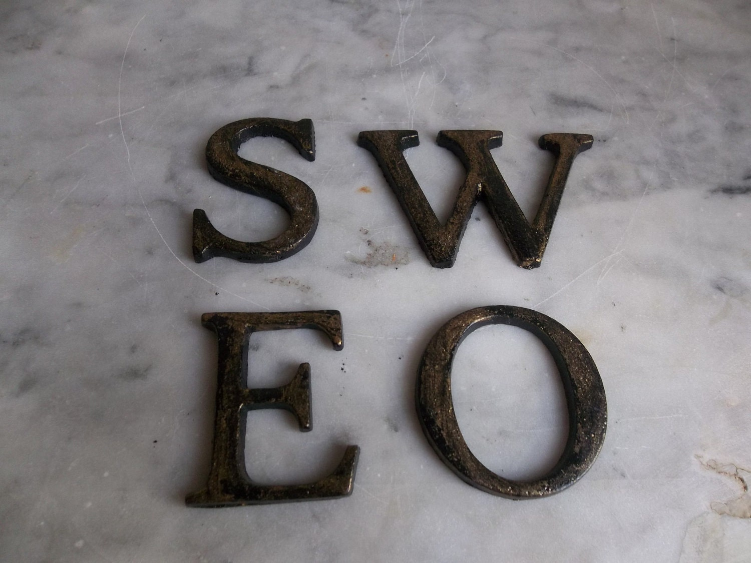 cast iron letters reserved for vintage cast iron letters cast 20792 | il fullxfull.317282816