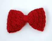 Red Bow Brooch