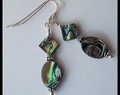 Handcrafted Sterling Silver and Abalone Earrings
