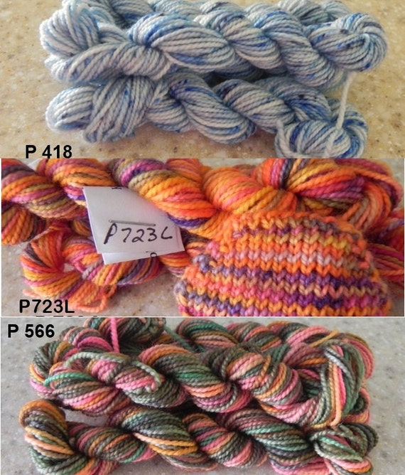 I Want it All - One of every mini skein in the store - 18 Mini-skeins, 90 gms, approx 414 yds