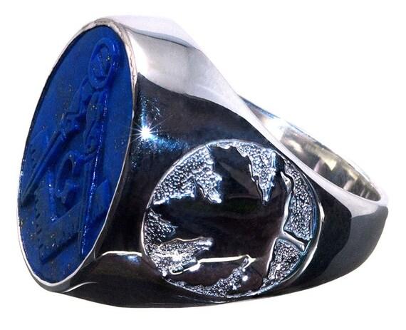 Lapis Lazuli Masonic Ring Mm