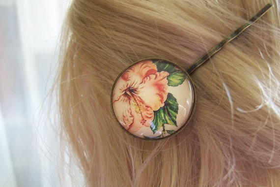 Tropical Flowers - bobby pins