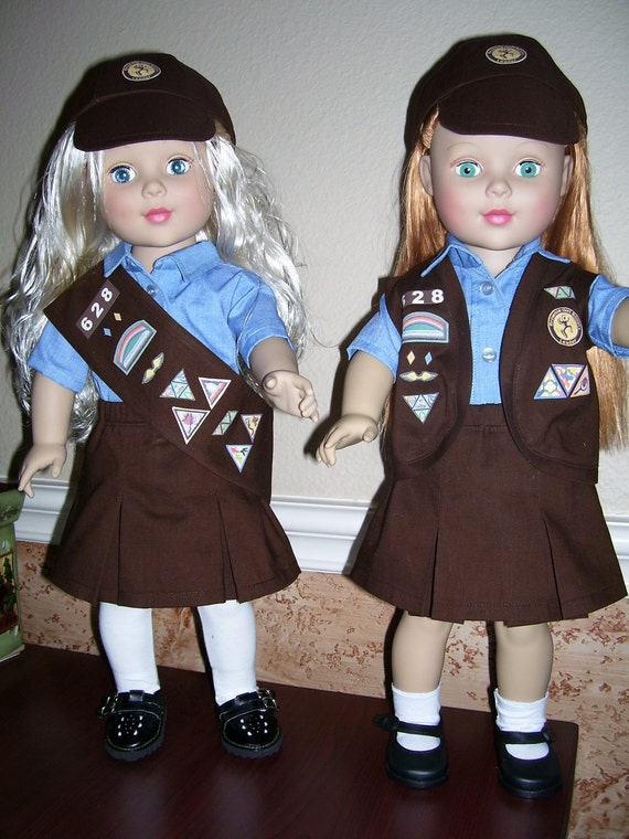 18 in Doll Brownie Girls Scout Outfit