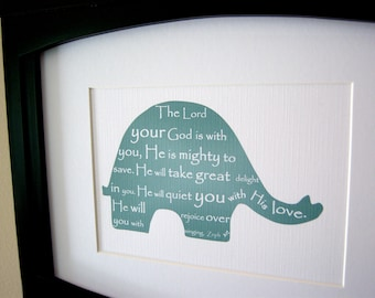 Elephant Scripture Art - 5x7