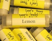 Lemon Lip Balm - One Tube of Beeswax Lip Salve Chapstick from Lee the Beekeeper