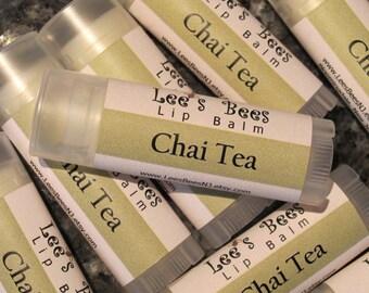 Chai Tea Lip Balm - One Tube of Beeswax Lip Balm Chapstick Lip Salve from Lee the Beekeeper