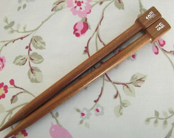 "US15 10mm 7"" wooden needles"