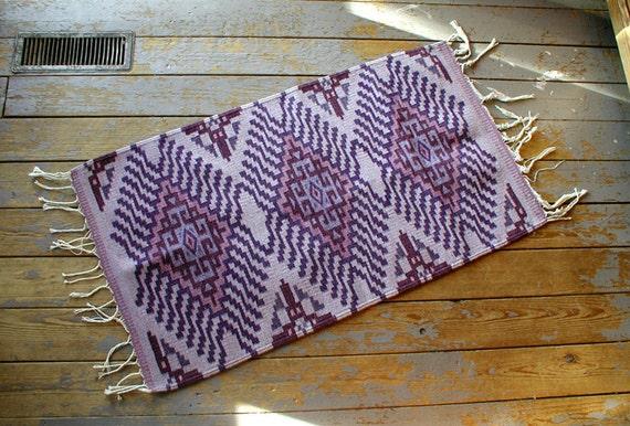 Brilliant Purple Zapotec / Oaxacan / Mexican Feng Shui Rug