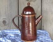 Coffee Pot in Glazed Pottery