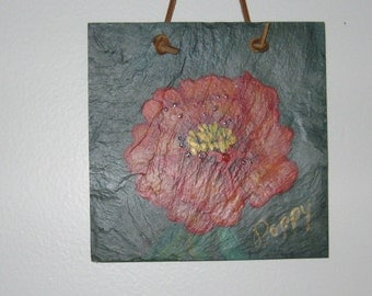 Rustic Oriental Poppy Painting