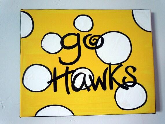 Iowa Hawkeyes hand-painted 8x10 canvas