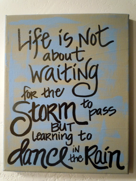 Hand-painted 8x10 canvas with quotation