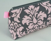 Knitting Notions pouch, pencil bag or make up bag. Michael Miller French Wallpaper