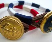 Build your own Custom Nautical Sailor Bracelet: NEW Button Selection